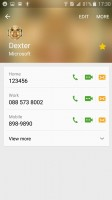 The phonebook reminds you the last chat you had with a contact - Samsung Galaxy J3 (2016) review