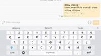 Keyboard - Samsung Galaxy Note7 review