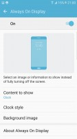 Always on display settings - Samsung Galaxy S7 Edge review