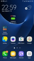 Game launcher app on the homescreen - Samsung Galaxy S7 Edge review