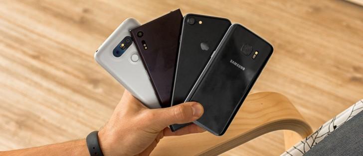 iPhone 7 vs Galaxy S7 vs Xperia XZ vs LG G5