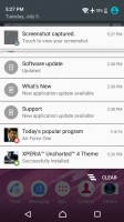 Notification area is vanilla Android - Sony Xperia E5  review