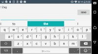The SwiftKey keyboard is highly customizable - Sony Xperia E5  review