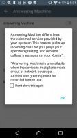 xperia answering machine