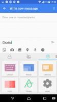 Customizeable SwiftKey keyboard - Sony Xperia X Compact review