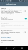 Audio settings - Sony Xperia X Compact review
