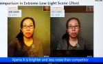 Front camera low-light noise reduction - Sony Xperia X hands-on
