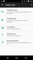 Lockscreen settings - Sony Xperia X Performance review