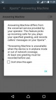 The Xperia X has a built-in answering machine - Sony Xperia X Performance review