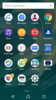 Standard app drawer - Sony Xperia X review