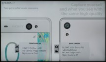 Two main cameras - Sony Xperia XA Ultra hands-on