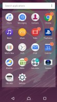 Standard app drawer - Sony Xperia XA review