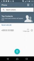 Call log - Sony Xperia XA review