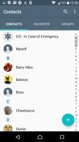 Phonebook - Sony Xperia XA review