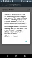 The Xperia X has a built-in answering machine - Sony Xperia XA review
