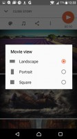 The Movie Creator can automatically or manually make shareable slideshows - Sony Xperia XA review
