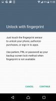 Fingerprint settings - Sony Xperia XZ review