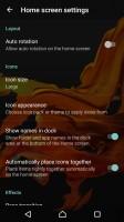 Homescreen settings - Sony Xperia XZ review