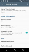 Scheduled backups are the best way to prevent data loss - Sony Xperia XZ review