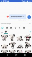 Stickers are available, just like in chat apps - Sony Xperia XZ review