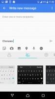 Customizeable SwiftKey keyboard - Sony Xperia XZ review
