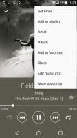 Music app - Sony Xperia XZ review