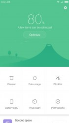 Security app: Main screen - Xiaomi Redmi Note 4 review