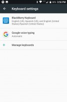BlackBerry Keyboard settings - Blackberry Keyone review
