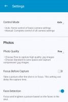 Camera app settings - Blackberry Keyone review