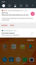 Notification shade, quick toggles and notification manger - Doogee Mix review