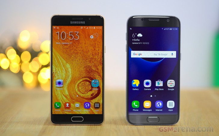 samsung galaxy s7 vs galaxy a5 2016 tests. Black Bedroom Furniture Sets. Home Design Ideas