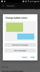Changing speech bubble colors - HTC 10 evo review