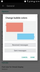 Changing speech bubble colors - HTC U Ultra review