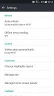 BlinkFeed Settings - HTC U11 review