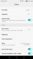Display settings 2 - Huawei Honor 6x review