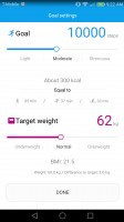 Goal settings - Huawei Honor 6x review