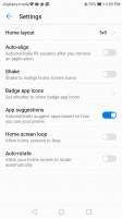 Layout settings - Honor 8 Pro review