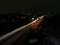 Light Painting - Car Trails, 15.4s - Huawei Mate 9 Pro review