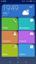 Simple homescreen with a tiled interface - Huawei P10 Lite review