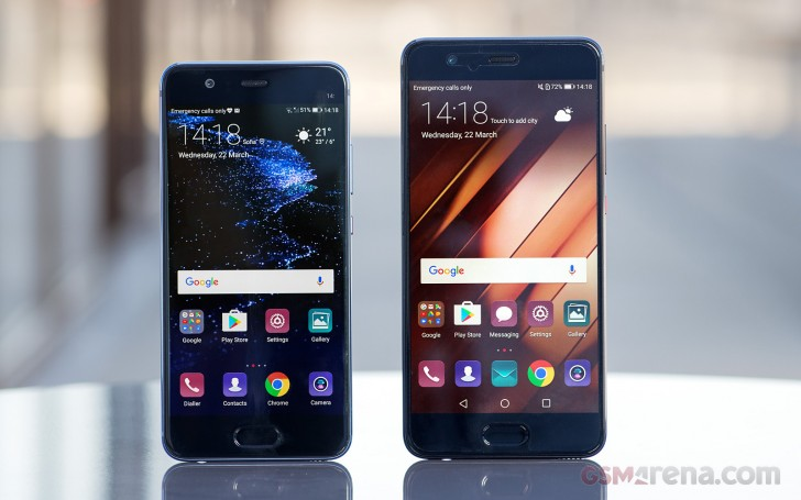 Huawei P10 Plus vs P10 low-light test