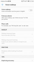 Voice control - Huawei P10 review