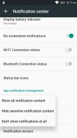 Per-app notification control - Lenovo K6 Note review
