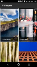 Google's wallpaper chooser - Lenovo Moto Z2 Force review