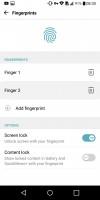 Fingerprint setup - LG G6 review
