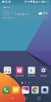 Homescreen without an app drawer - LG G6 review
