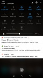 Huawei Mate 9's notification area - LG V20 vs. Huawei Mate 9 review