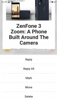 3D Press in Mail app - Meizu Pro 6 Plus review
