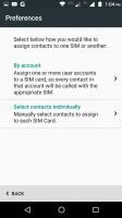 Dual SIM settings - Motorola Moto M review