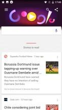 Google Now panel - Nokia 3 review