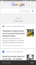 Google Now panel - Nokia 5 review